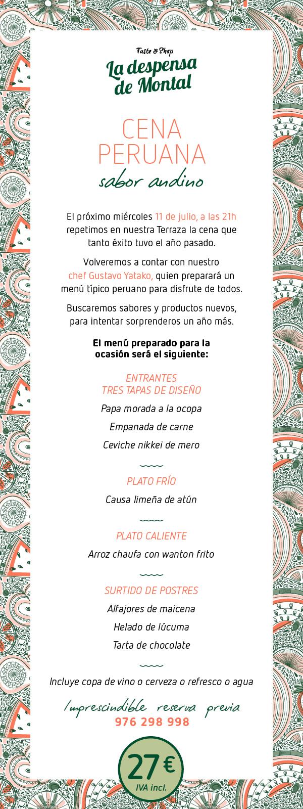 Cena peruana, descubre el sabor andino