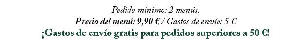 Precio del menú 9,90€
